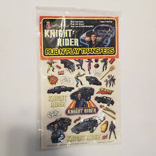 Vintage 1982 KNIGHT RIDER Rub N' Play Transfer Set by Colorforms MIP SEALED NOS