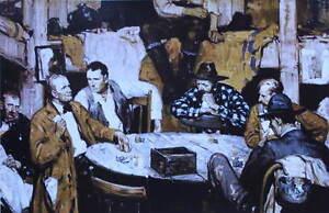 Old Time Western Poker Game vintage art