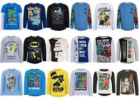 Boys Kids Children Lego T-shirt Tshirts Batman Star Wars Ninjago Age 3-10 Years