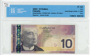 2004 Bank of Canada $10 Banknote - FEP0051030