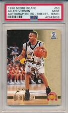 Allen Iverson 76ers 1996 Score Board Checklist Rookie RC #50 PSA 9 (MC)