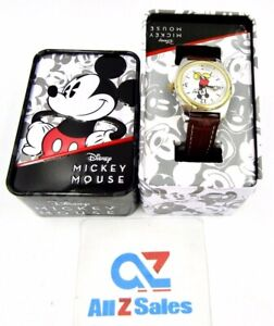 Disney Mickey Mouse MCK613 Wrist Watch for Women / Kids, Brown Strap - NEW