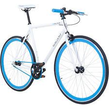 700 C28 pulgadas galano Blade Singlespeed Fixie Bicicleta Bike Blanco Azul 53cm