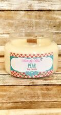 Pear 8oz and 16oz Soy Candle Highly Scented Glass Jar Wood Wick