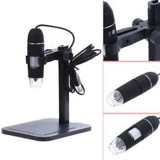 1000X 8 LED 2MP USB Digital Microscope EndoscopeMagnifier Camera+Lift Stand #B