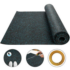 """Rolled Rubber Mat Gym Basement Fitness Flooring 1/4"""",3.6'x10.2',Exercise & Gym"""