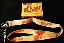 1 Deck Raw Rolling Papers Plastic Coated Playing Cards & 1 Lanyard, Key-Chain