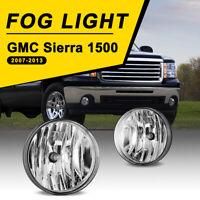 Fits 07-14 GMC Sierra Fog Lights Bumper Lamps Clear Lens Replacement 1 Pair