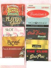 Vintage Lot of 10 Las Vegas Casino Player's Club Slot Machine Cards