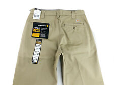 NEW Men's Carhartt Twill Work Wear Relaxed Fit Pants  Khaki B290 Size 32x34 NWT
