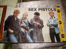 "Sex Pistols Poster! Fab! 1986 35"" x 23.5"""