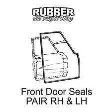 1963 1964 Mercury Front Door Seals - pair 4 Door Sedan / Wagon