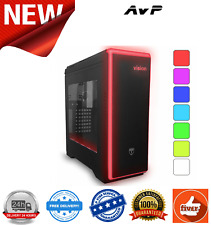 AvP Vision Mid Tower Black Case With LED Lighting System w/Window USB 3.0