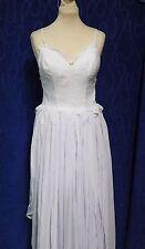 Boho long dentelle balayage train robe de mariée par diy fashion neuf avec étiquettes taille uk 6