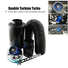 Car Turbine Supercharger Turbo Charger Single Double Air Filter Intake System