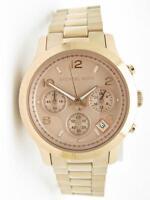 Michael Kors MK-5128 Runway Rose Gold Chronograph Dial Date Watch New Gift