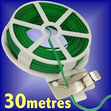 2 X 25M GARDEN TWIST TIE WIRE REEL WITH CUTTER PLANT BUSH FLOWER STRONG SUPPORT