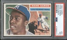 1956 Topps HANK AARON #31 PSA 7 NM White Back Variation HOF Braves