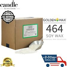 GW464 SOY WAX (10-45 LB) 100% Natural Soy Wax Flakes and Candle Making Supplies