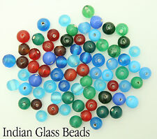 150 x Clear Or Opaque Round Indian Glass Beads For Jewellery Making Size 6mm