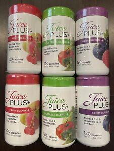 Juice Plus (6 Bottles, 2 Ea) Vegetable, Fruit, Berry 720 Capsules  Exp 4/2022