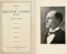 1915 DECATUR County Iowa IA, History and Genealogy Ancestry Family Tree DVD B38