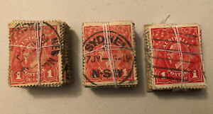 Collection Of George V / KGV Bundles Of 100 X 3 Used