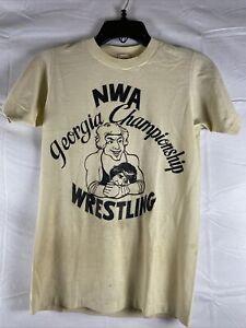 Vintage Rare Original NWA Georgia Championship Wrestling T-shirt Historical