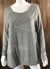 NWT NEW Women's Plus Size Lane Bryant Long Sleeve Knit Top Size OX 14/16 Grey