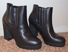 """NEW ~ Madden girl  Women BLACK Ankle Boots / Size 7 m / 3-3/4"""" Heel  REALLY CUTE"""