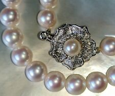 Authentic Takashimaya Akoya white pinkish pearl necklace JAPAN 7.2mm $2500 perle