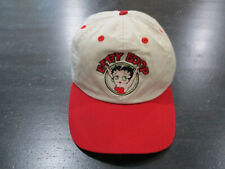 VINTAGE Betty Boop Snap Back Hat Cap White Red TV Show Cartoon Mens 90s *