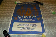 "PUBLIC IMAGE LTD - ORIGINAL 20""X30"" POSTER UK TOUR DERBY 1987 SEX PISTOLS PUNK"