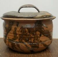 Studio Pottery Lidded Crock Signed Orlov 1977