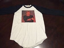 Vintage 80s STING The Police Tour Concert T Shirt S Screen Stars 3/4 Sleeve Rock