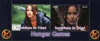 Chad 2014 CTO Hunger Games 2v M/S Movies Film Stamps