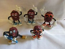 California Raisins Vintage Late1980's Lot of 5 Trumpet Horn Raido Music Gituar