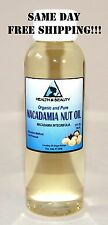 MACADAMIA NUT OIL by H&B Oils Center ORGANIC CARRIER COLD PRESSED 100% PURE 2 OZ