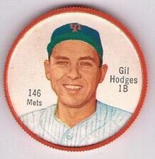 1962 moneda de béisbol Salada Junket #146B Gil Hodges Nueva York Mets