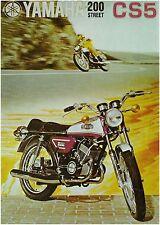 YAMAHA Brochure CS5 200 Street 1972 1971 Sales Catalog REPRO CS5E