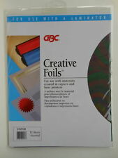 Creative Foils GBC 12 Sheets Laminator Assorted Colors Red Gold Blue Silver Gree
