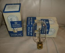 pair vintage NOS GE 500T20/25-115v CLEAR AIRPORT LAMPS BULBS