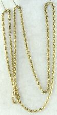 USED 14K GOLD 20 INCH ROPE CHAIN NECKLACE MICHAEL ANTHONY 7.6 GRAMS
