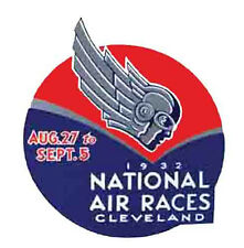 Cleveland  OH   National Air Races 1932    Vintage 1930's Style Travel Decal