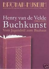 Fachbuch Henry van de Velde - Buchkunst - sehr informatives Buch, NEU, ungelesen