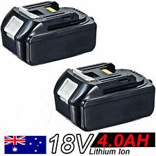 2x 18V 4.0AH Battery For Makita BL1840 BL1830 BL1815 LXT Lithium Ion Cordless