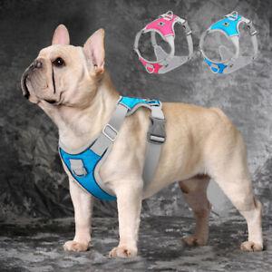 Adjustable Dog Harness Front Leading Reflective Vest for Pets French Bulldog Pug