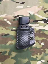 Armor Gray Carbon Fiber Kydex Magazine K-Carrier for  Glock 43 9mm