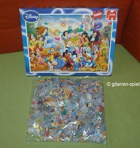Disney Puzzle - Komplett 1A Top! - 1000 Teile Bunte Figuren-Parade Jumbo 81252 B