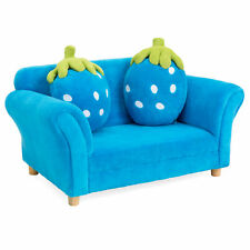 BCP Kids Armrest Sofa Chair Lounge Furniture Set w/ 2 Strawberry Cushion Pillows